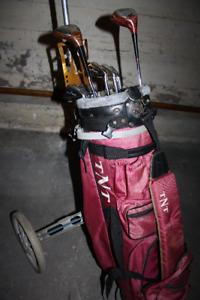 GOLF CLUBS w/ bag.....and CADDY