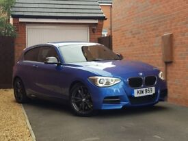 BMW M135i In Estoril Blue with Black Leather. Full BMW Service history in Very Good Condition.