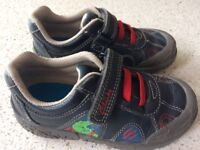 Boys Clarks leather trainer shoes