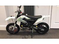 99% conditional xtm pro ride 50cc mini dirt bike