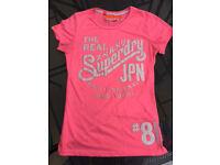 Superdry women's pink t-shirt