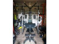 Multi gym with Smiths Machine + 175kg of Olympic weight plates.