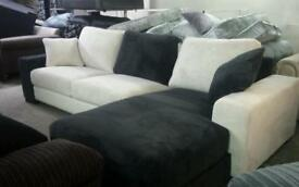 New sandy chases sofa in black and white only £185