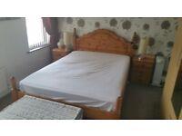 Double Oak wood bed frame
