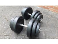 39KG T n P DUMBBELL WEIGHTS SET
