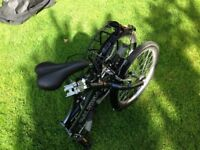Two Raleigh Stash folding bicycles/bikes.Very little used and in excellent condition with carry bags