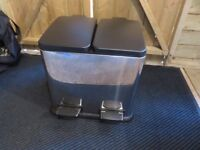 Stainless steel dual kitchen bin - Taken subject to collection...