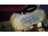 John lewis wicker moses basket