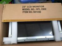 "Job lot of four 23"" LCD monitors"