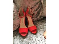 Red shoes size 5