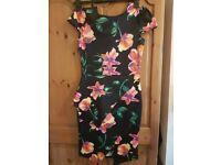 Black dress with flower print
