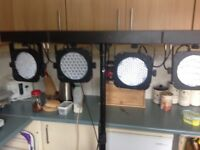 Beams led par are 4 way