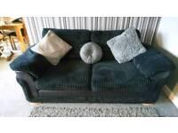 DFS Destiny black 2 seater sofa