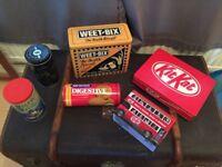 Advertising collectible tins vintage retro look man cave