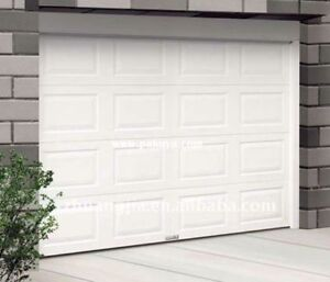 8x7 insulated steel garage door, with all the hardware.