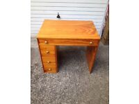 Small writing desk. With 4 drawers