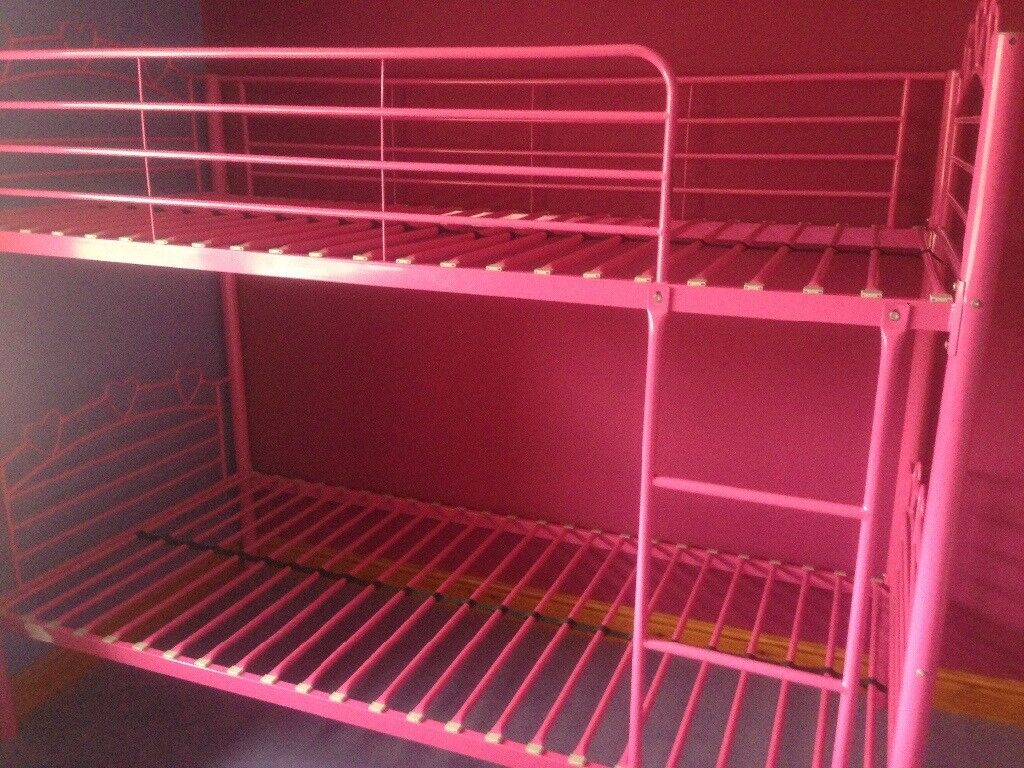 Girls Pink Metal Bunk Beds In Driffield East Yorkshire Gumtree