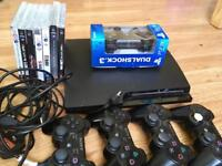 Fully working PS3 with 5 Pads 8 Games