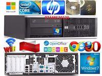 HP 8000 Elite SFF Intel Core2Duo vPro E8400 3GHz/4GB 160GB Windows 7,WIFI/DVD-W