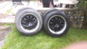 4 descent 20 inch rims and tires Chevy 6 bolt.