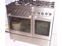 CAPLE RANGE TWIN OVEN STAINLESS STEEL GAS COOKER FOR SALE.