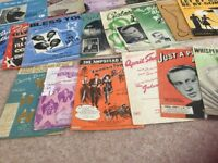 Vintage sheet music 20 items