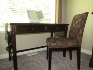 Desk or dressing table and chair