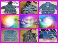 boys jackets/coats from 6 months -10 years(hats,gloves and scarves)
