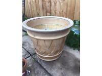 Large plastic flower pot