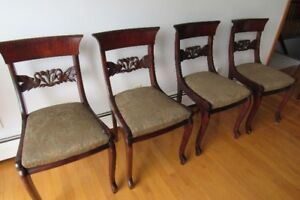 5 antique 19 century chairs asking 125.00 each