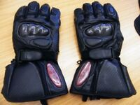 Porelle Black Heated Motorcycle Gloves