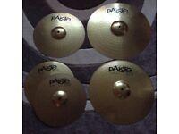 Paiste 101 Cymbals. £85 ono