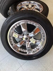 20 inch American racing rims with tires
