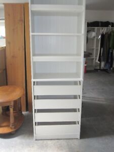 SWEET WHITE CABINET.4        PULL OUT DRAWERS -----4 SHELVES