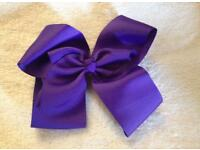 *New* 6 inch Dark Purple Hair Bow