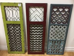 Distressed Window/Shutter Panels with decorative inserts