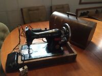 Vintage SINGER sewing machine. SINGER motor is working SPARES OR REPAIR.