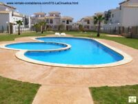 Costa Blanca, 1st floor apt, 2 bedrooms, English TV, A/C, Wi-Fi, 4 people OCT £215 pw (SM072)