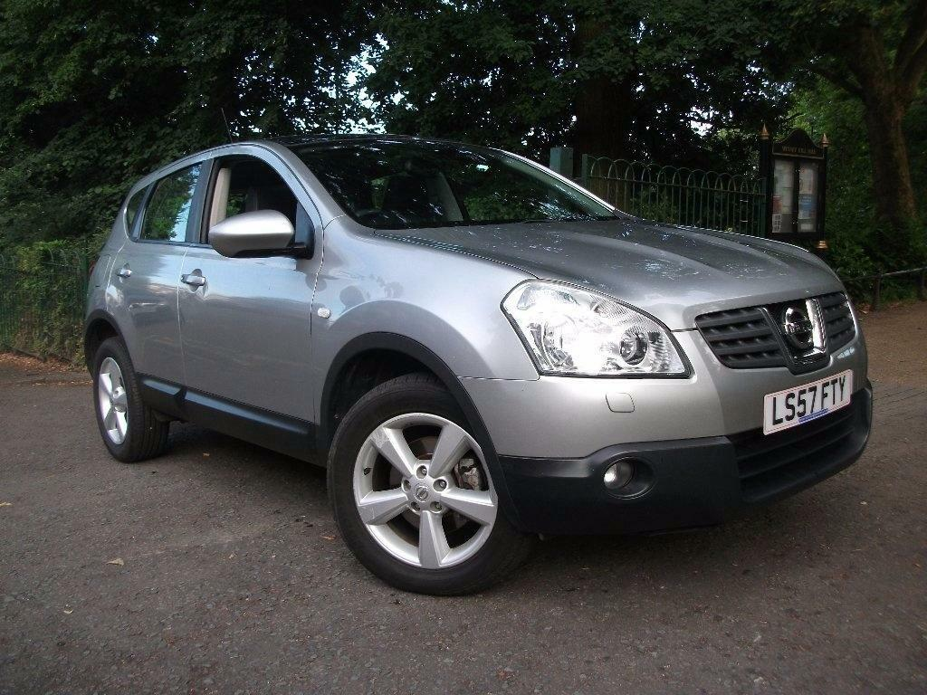 nissan qashqai 2 0 dci tekna 5dr silver 2007 in. Black Bedroom Furniture Sets. Home Design Ideas