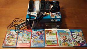 WIIU system + extras! Selling as a LOT ONLY.