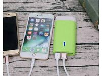 7800mah power bank. Slim lightweight 3 usb battery charger with led torch (camping,hiking,holidays)