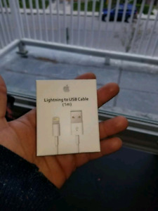Bundle deal!!! Genuine and in box apple charger and cable...
