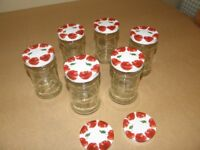 65 X Jam Jars / Weddings / Table Decorations / Crafts