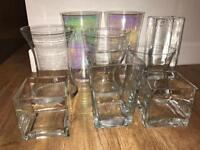 8 Glass Vases - Pristine (ideal for candy buffet)
