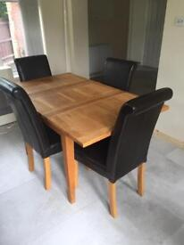 Creations Solid Oak Extending Table and Chairs
