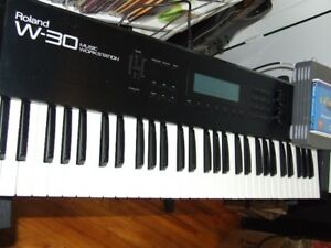 Roland W-30 synth keyboard sampler workstation