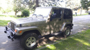 2004 Jeep Wrangler TJ Sahara 4.0 Manual *SOLD AS IS*