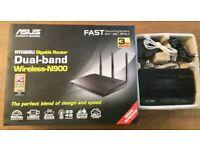 ASUS RT-N66U 802.11a/b/g/n Dual Band 450 Mbps Multimedia Ultra Slim Gigabit Wireless Router