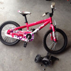 "Girl's Scott 12"" bike w/ training wheels"