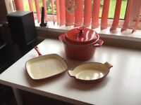 New cast iron set of kitchen ware